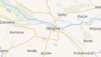 Głogów - szczegółowa mapa Google