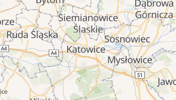 Katowice - szczegółowa mapa Google
