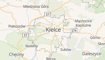 Kielce - szczegółowa mapa Google