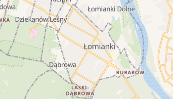 Łomianki - szczegółowa mapa Google