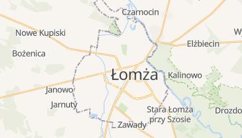 Łomża - szczegółowa mapa Google