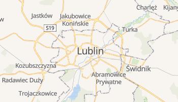 Lublin - szczegółowa mapa Google