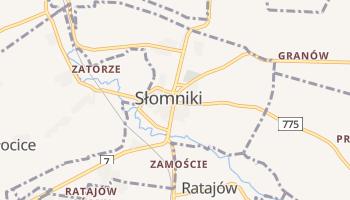 Słomniki - szczegółowa mapa Google