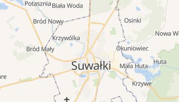 Suwałki - szczegółowa mapa Google