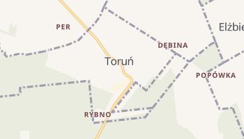 Toruń - szczegółowa mapa Google