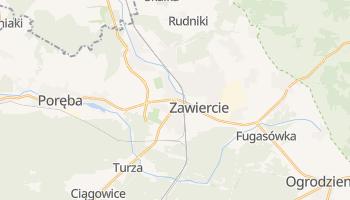 Zawiercie - szczegółowa mapa Google
