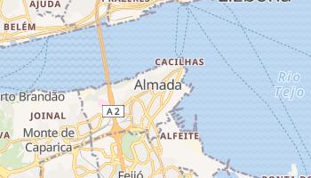 Almada - szczegółowa mapa Google