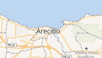 Arecibo - szczegółowa mapa Google