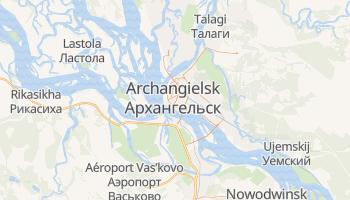 Archangielsk - szczegółowa mapa Google