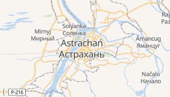 Astrachań - szczegółowa mapa Google