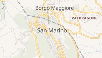San Marino - szczegółowa mapa Google