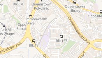 Queenstown - szczegółowa mapa Google