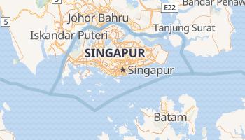Singapur - szczegółowa mapa Google