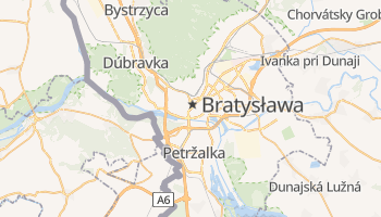 Bratysława - szczegółowa mapa Google