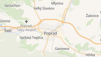 Poprad - szczegółowa mapa Google