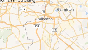 Alberton - szczegółowa mapa Google