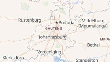Gauteng - szczegółowa mapa Google
