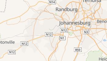 Soweto - szczegółowa mapa Google