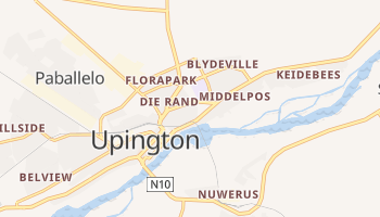 Upington - szczegółowa mapa Google