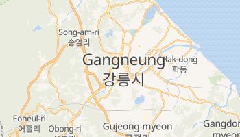 Kangnŭng - szczegółowa mapa Google