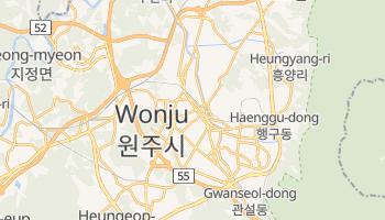 Wonju - szczegółowa mapa Google