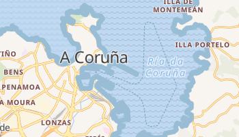A Coruna - szczegółowa mapa Google