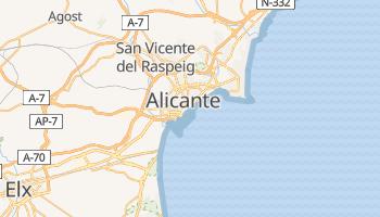 Alicante - szczegółowa mapa Google