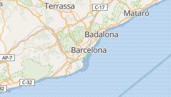 Barcelona - szczegółowa mapa Google