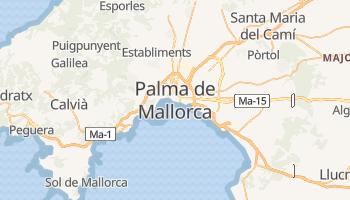 Palma de Mallorca - szczegółowa mapa Google