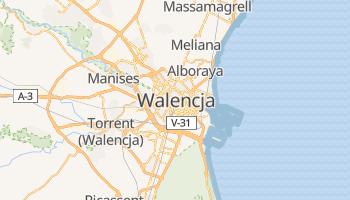 Walencja - szczegółowa mapa Google