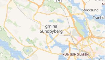 Gmina Sundbyberg - szczegółowa mapa Google