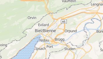 Biel - szczegółowa mapa Google