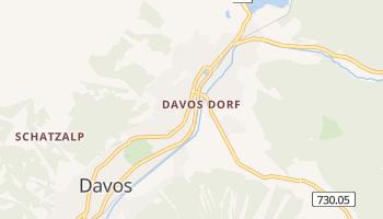 Davos - szczegółowa mapa Google