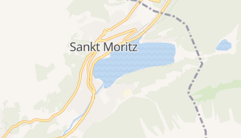 St. Moritz - szczegółowa mapa Google