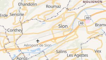 Sion - szczegółowa mapa Google