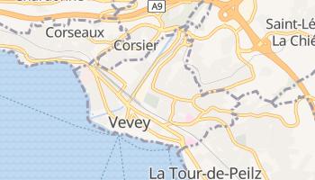 Vevey - szczegółowa mapa Google