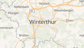 Winterthur - szczegółowa mapa Google