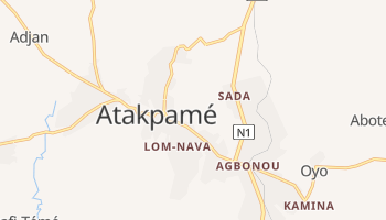 Atakpame - szczegółowa mapa Google