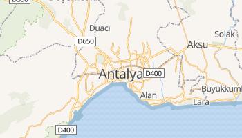 Antalya - szczegółowa mapa Google