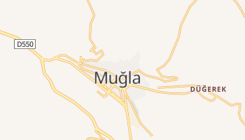 Muğla - szczegółowa mapa Google
