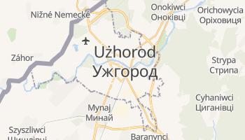 Użhorod - szczegółowa mapa Google