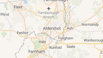 Aldershot - szczegółowa mapa Google
