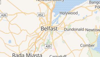 Belfast - szczegółowa mapa Google