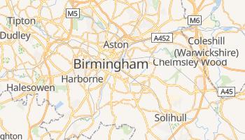 Birmingham - szczegółowa mapa Google