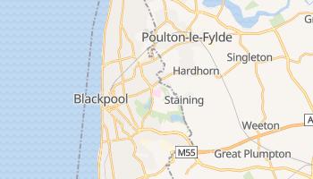 Blackpool - szczegółowa mapa Google