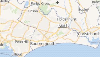 Bournemouth - szczegółowa mapa Google