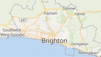 Brighton - szczegółowa mapa Google