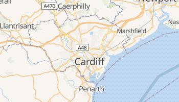Cardiff - szczegółowa mapa Google