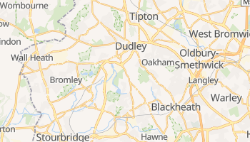 Dudley - szczegółowa mapa Google