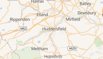 Huddersfield - szczegółowa mapa Google